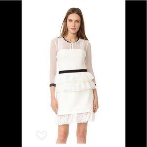Three Floor Women's off White Ruffled Dress,